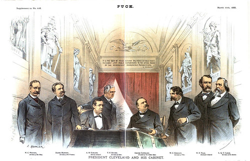 president cleveland and his cabinet (1885)