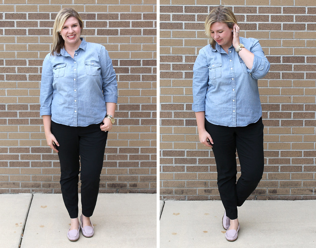 mom style remix chambray black