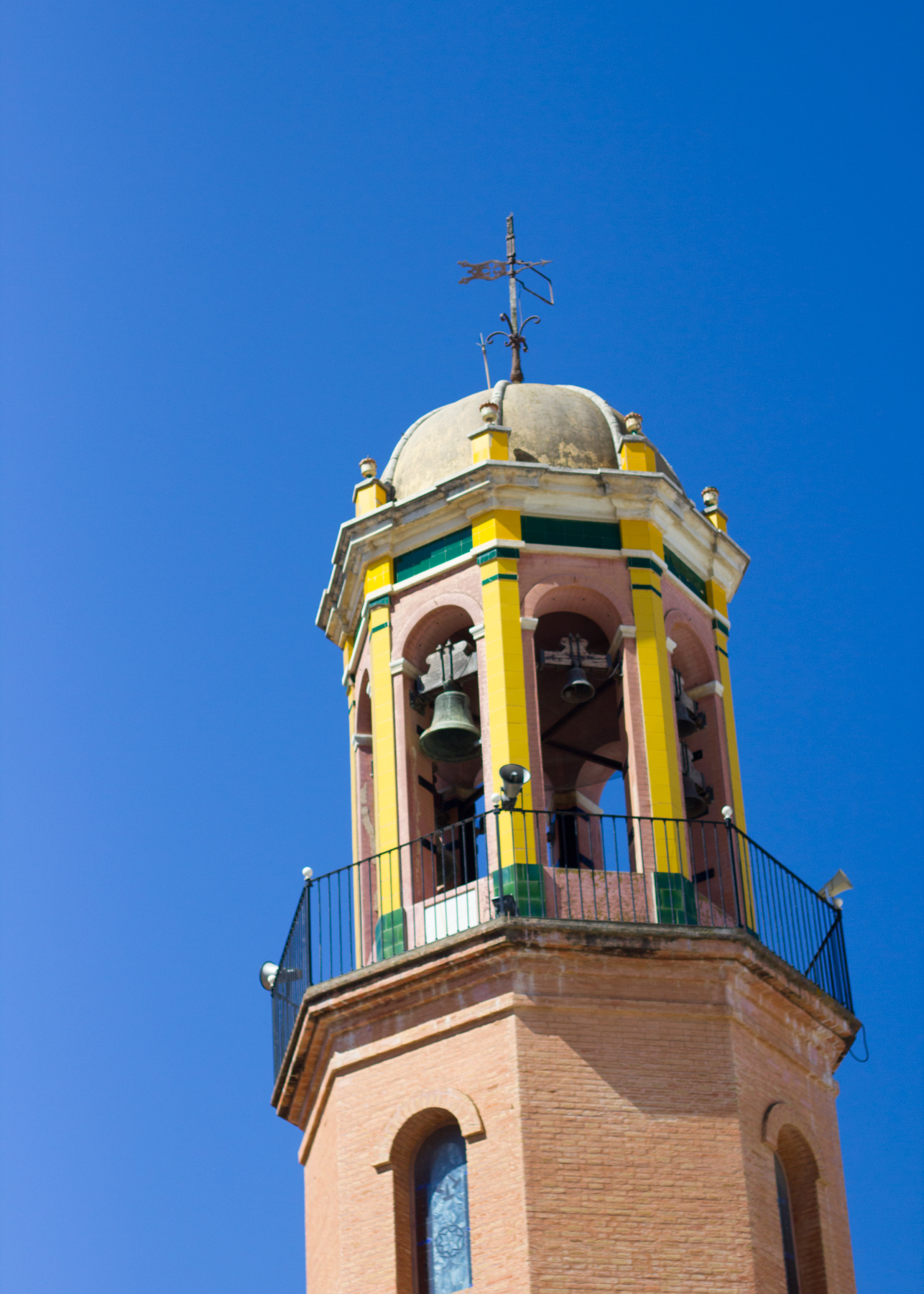 Church bell tower in Competa