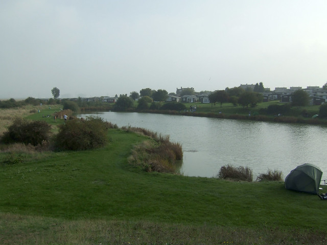 Fishing lake at Allhallows-on-Sea