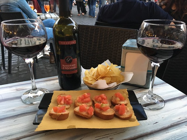 Red wine and snacks - BAR Campo de' Fiori