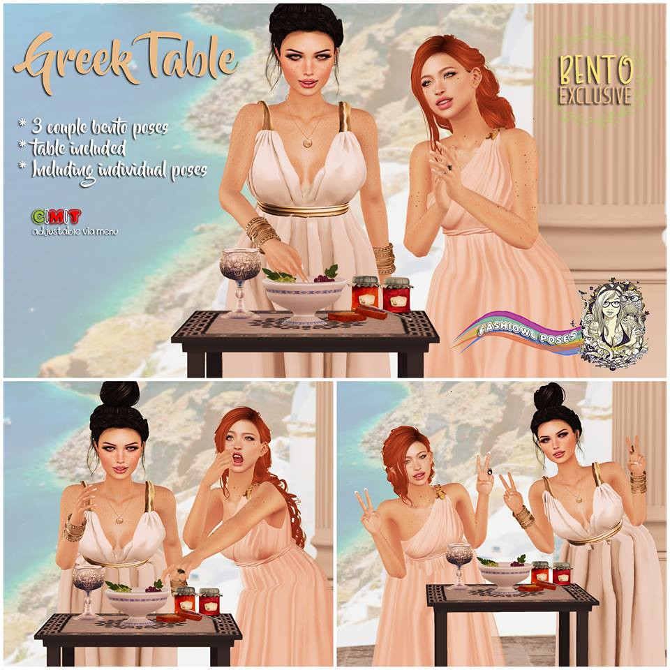 =fashiowl poses=Greek Table - SecondLifeHub.com