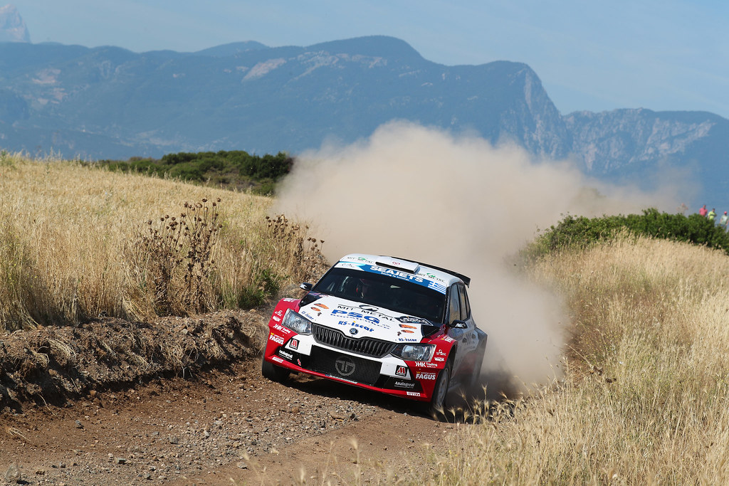 07 TLUSTAK Antonin (cze) and VYBIRAL Ivo (cze) action during the European Rally Championship 2017 - Acropolis Rally Of Grece - From June 2 to 4  - Photo Gregory Lenormand / DPPI