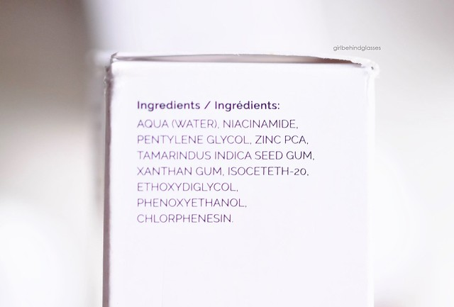 The Ordinary Niacinamide 10% + Zinc 1% ingredients