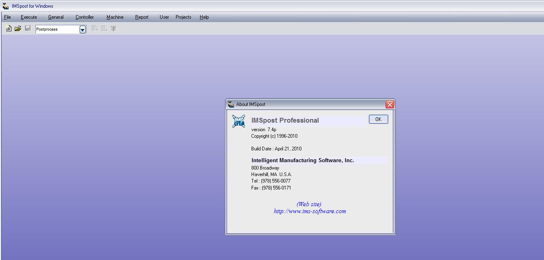 Post CNC code with IMSpost 7.4p x86 x64 full