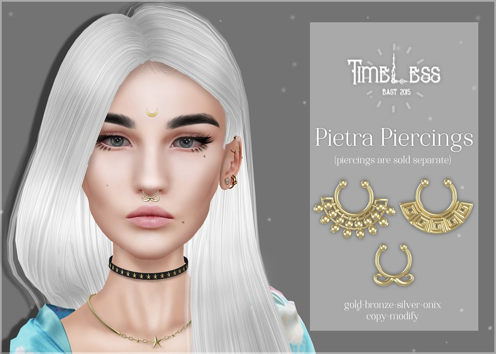 Timeless - Pietra Piercings - SecondLifeHub.com
