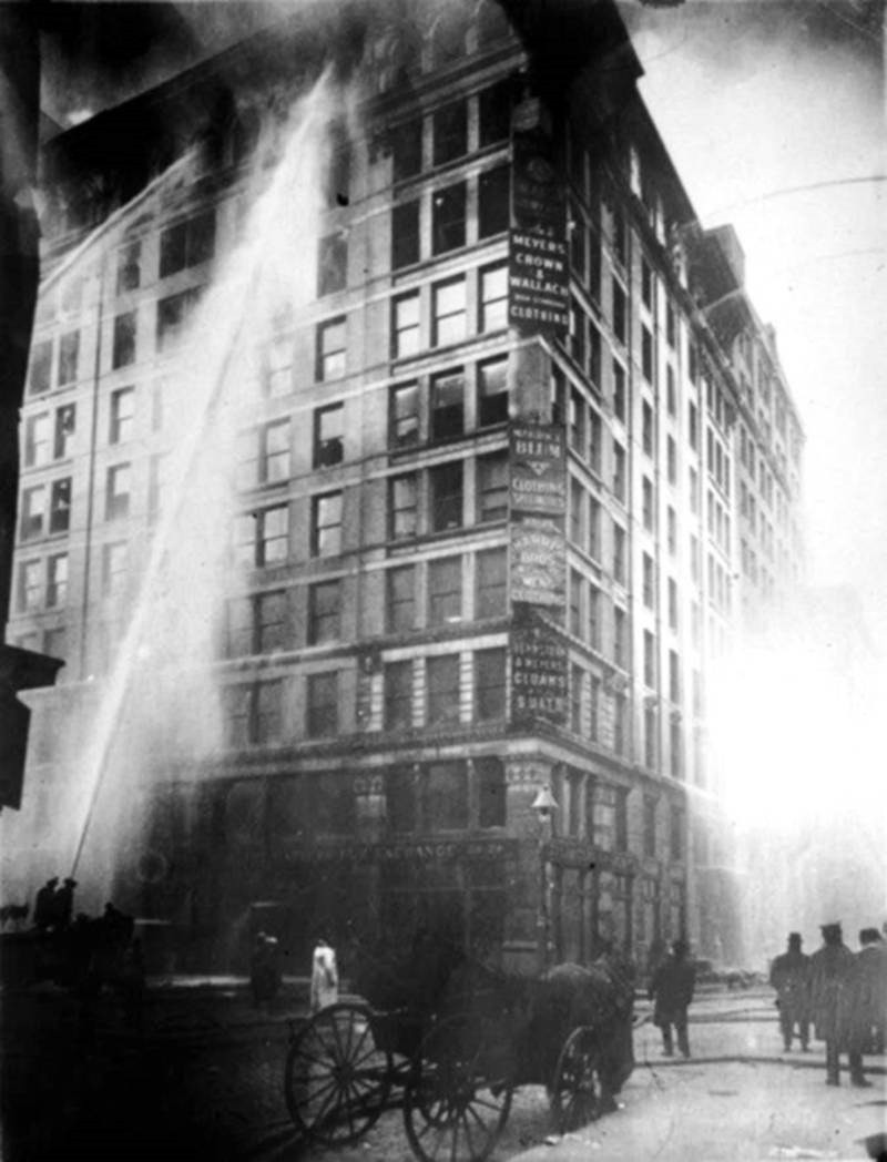 Triangle Shirtwaist Factory fire on March 25 - 1911