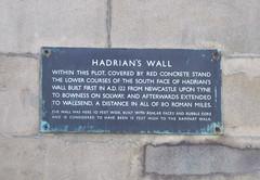 Photo of Hadrian's Wall bronze plaque