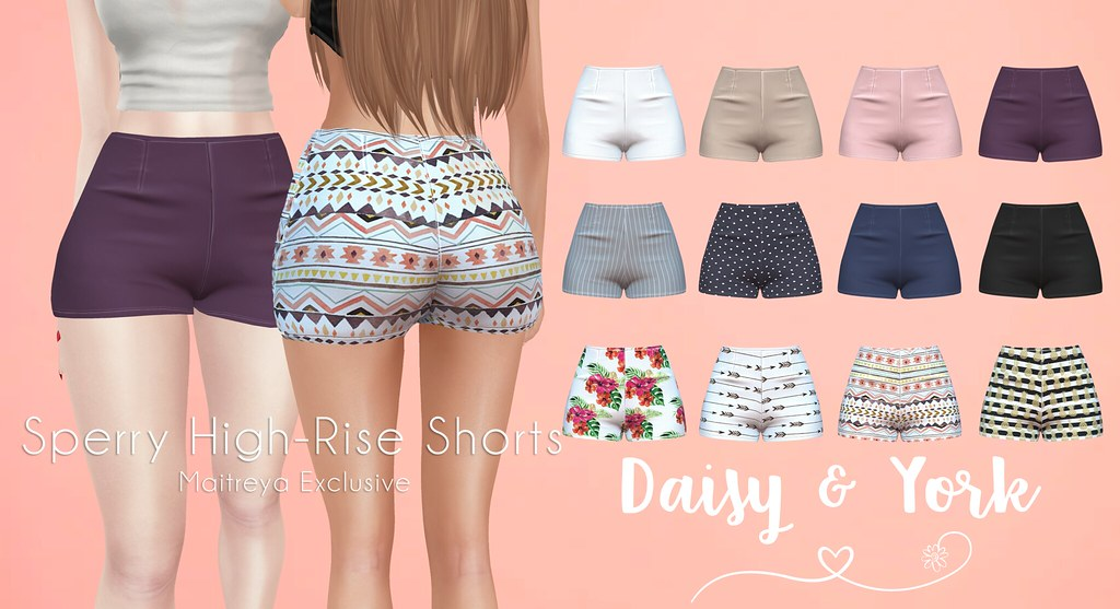 Daisy & York - Sperry High-Rise Shorts - SecondLifeHub.com