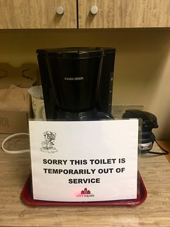 This sign in my office does, in fact, reflect the quality of the office coffee