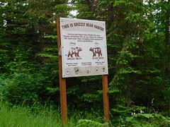 Bear Country Warning Sign