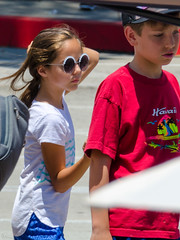 Cute Girl Sunglasses On