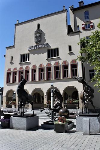 townhall of Vaduz, Liechtenstein