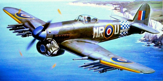 1945 Hawker Typhoon MR-U MP197 No 245 Sqn - Hasegawa