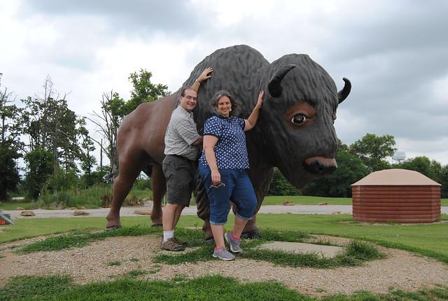 Giant Buffalo, Driftstone Pueblo, St. Elmo, IL