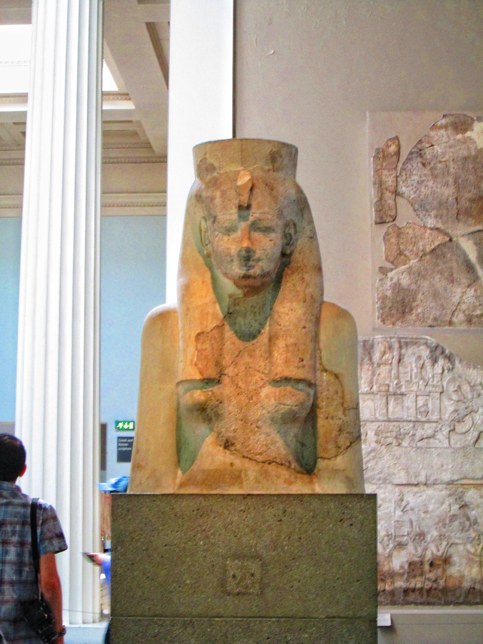 British Museum Egyptian Pharoah Statue