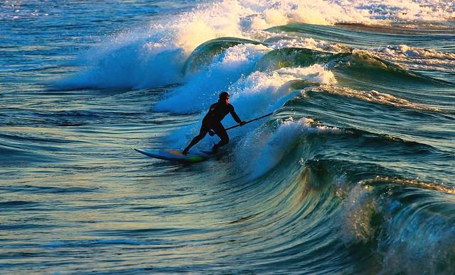 SUP Surfing - Tel-Aviv beach