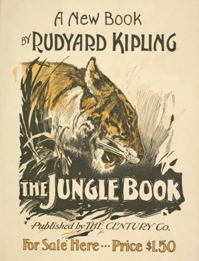 Poster for the Jungle Book by writer Rudyard Kipling