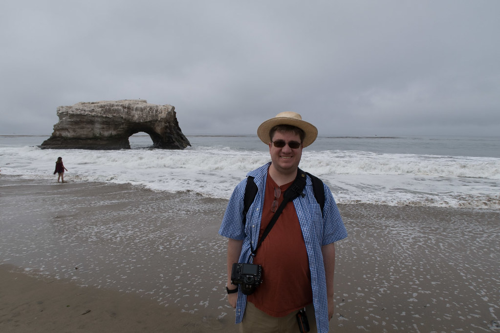 Ken at Natural Bridges State Beach