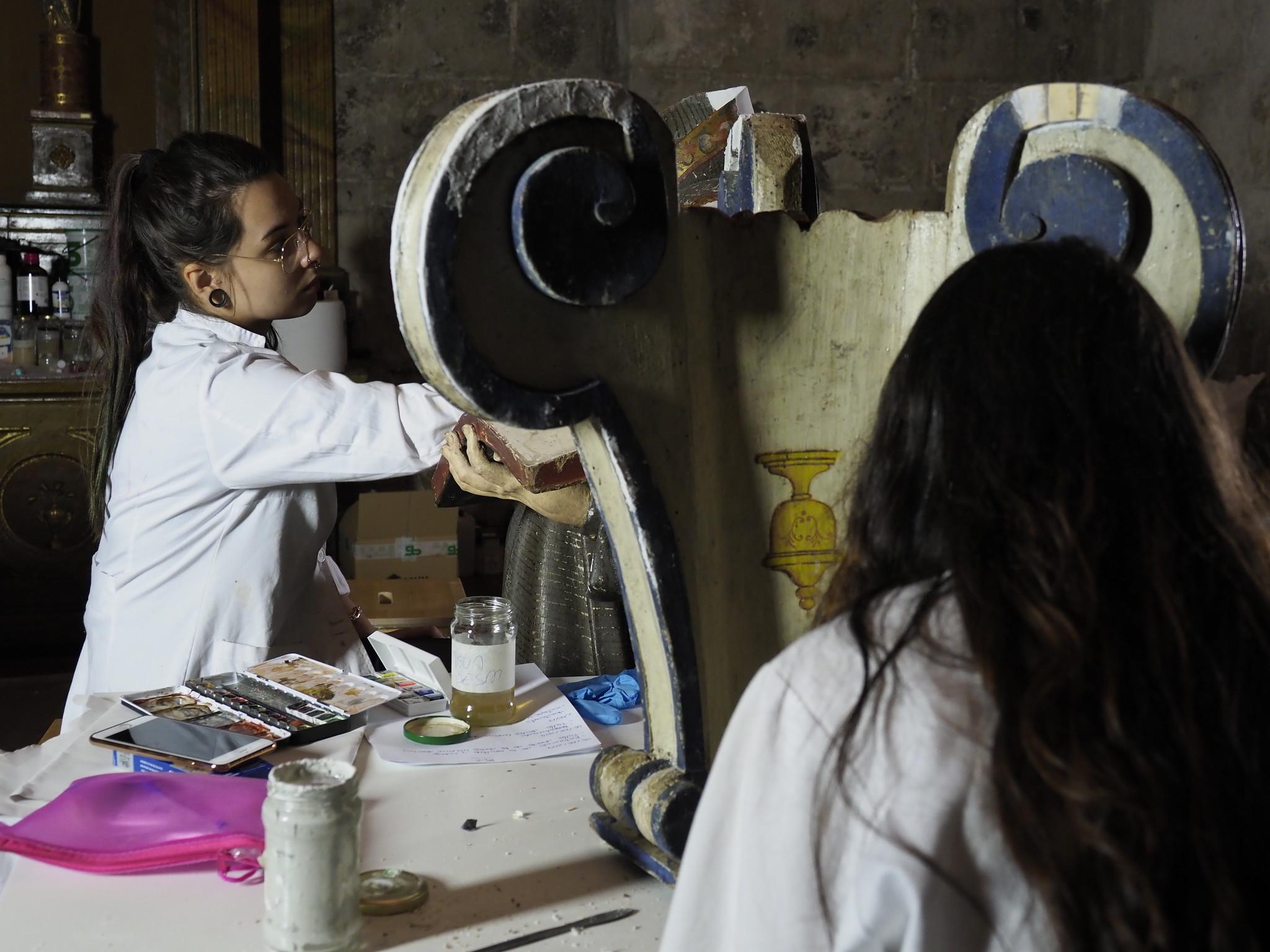 6-7-2017 - Escuela Taller de restauración en la S.I. Catedral de Valladolid
