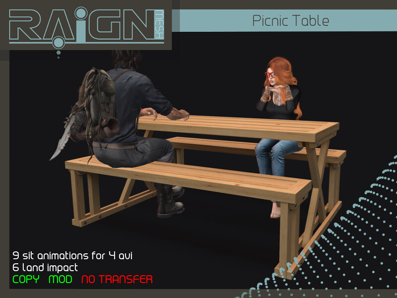RAIGN Picnic Table - SecondLifeHub.com