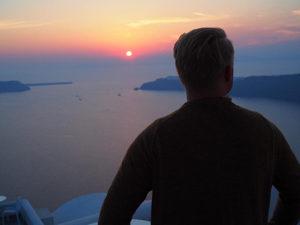 santorini-auringonlasku