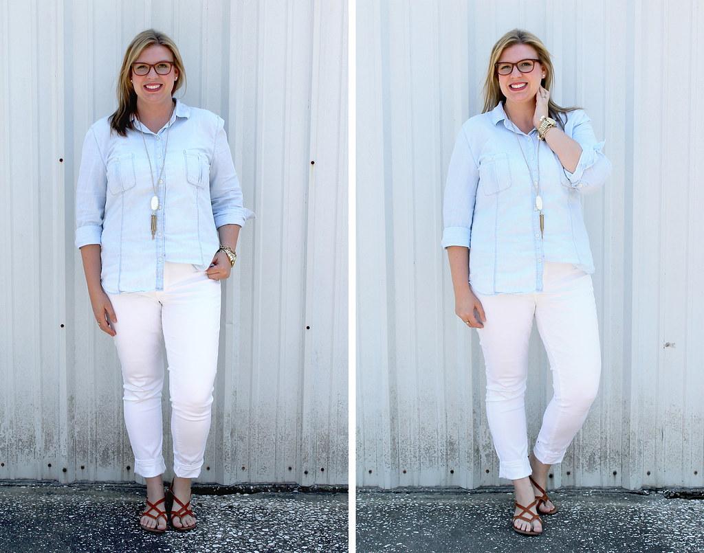 mom style remix chambray white