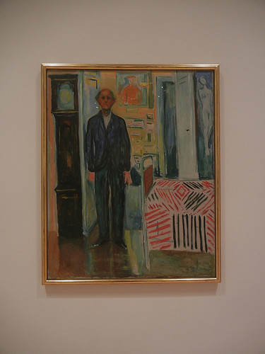 DSCN9055 _ Self-Portrait_ Between the Clock and the Bed, 1940-43, Edvard Munch, SFMOMA