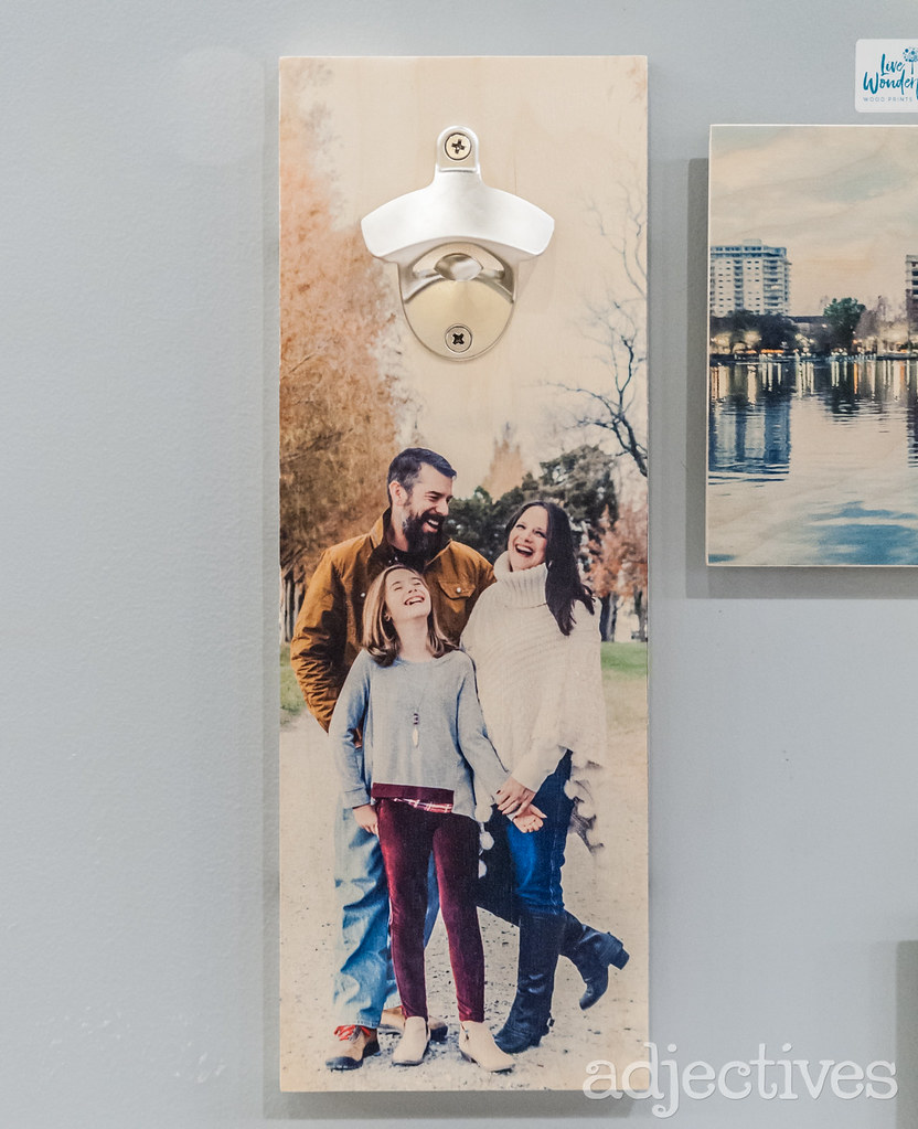 Wooden photo with bottle opener in Altamonte by Live Wonderful Photography