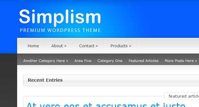 Simplism WordPress Theme free download