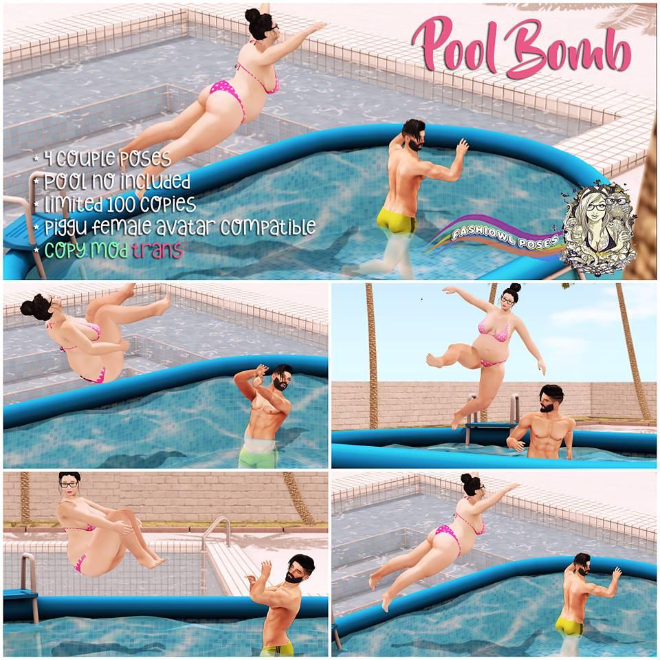=fashiowl poses=Pool Bomb - SecondLifeHub.com