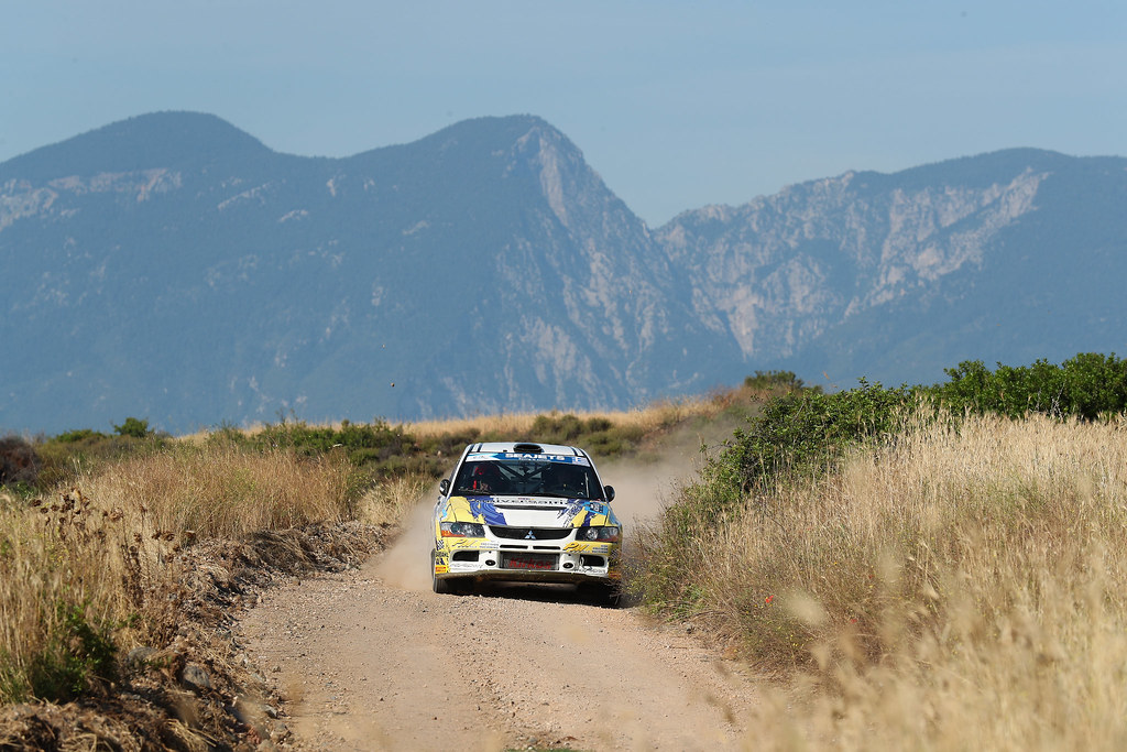 12 MELEGARI Zelindo (ita) and BARONE Maurizio (ita) action during the European Rally Championship 2017 - Acropolis Rally Of Grece - From June 2 to 4 - Photo Gregory Lenormand / DPPI