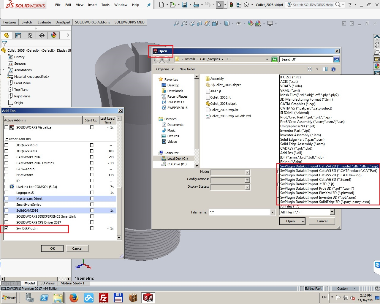 DATAKIT 2016 Plugins for SolidWorks 2010-2017 full