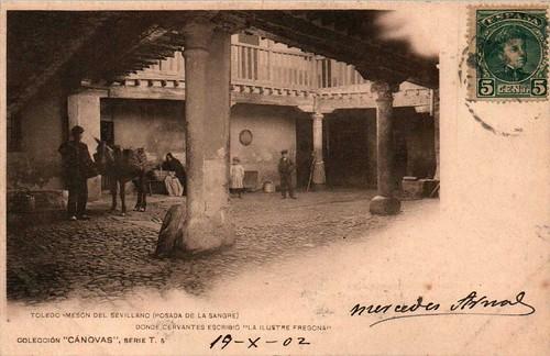 Posada de la Sangre  hacia 1900. Fotografía de Antonio Cánovas del Castillo, Dalton Kaulak.