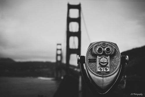 sanfrancisco california unitedstates kiltro bridge goldengate coast sf bay shore sea ocean weather bw city clouds winter