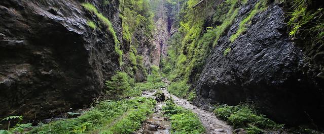 Getting sucked into the Malá Fatra gorge