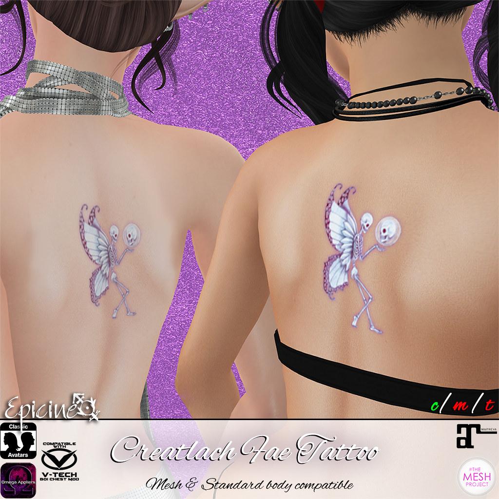 Epicine - Creatlach Fae Tattoo - SecondLifeHub.com