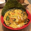 Lunch is omelet ramen with seaweed in rich crab broth