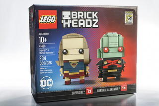 2017 SDCC 限定!! LEGO 41496 BrickHeadz 系列【女超人&火星獵人】SDCC 2017's Exclusive DC Supergirl and Martian Manhunter