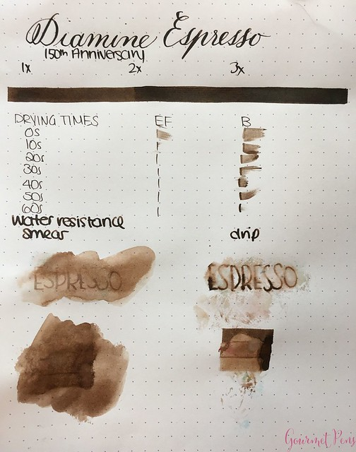 Ink Shot Review Diamine Anniversary Espresso @AppelboomLaren 2