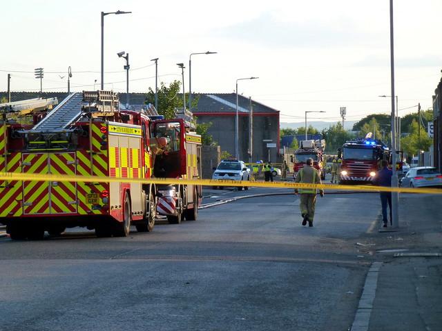 Augean PLC fire. Clark st Paisley july 8th 2017 (30)
