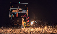 Sulfuric Fire Fishing ,Taiwan