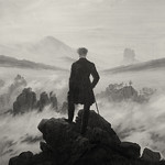 Wanderer above the sea of fog - mono