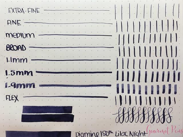 Ink Shot Review Diamine Anniversary Lilac Night @AppelboomLaren 3