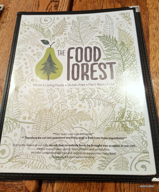 The Food Forest menu cover