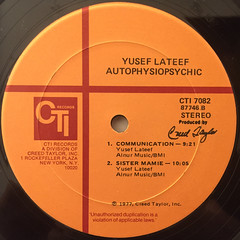 YUSEF LATEEF:AUTOPHYSIOPSYCHIC(LABEL SIDE-B)