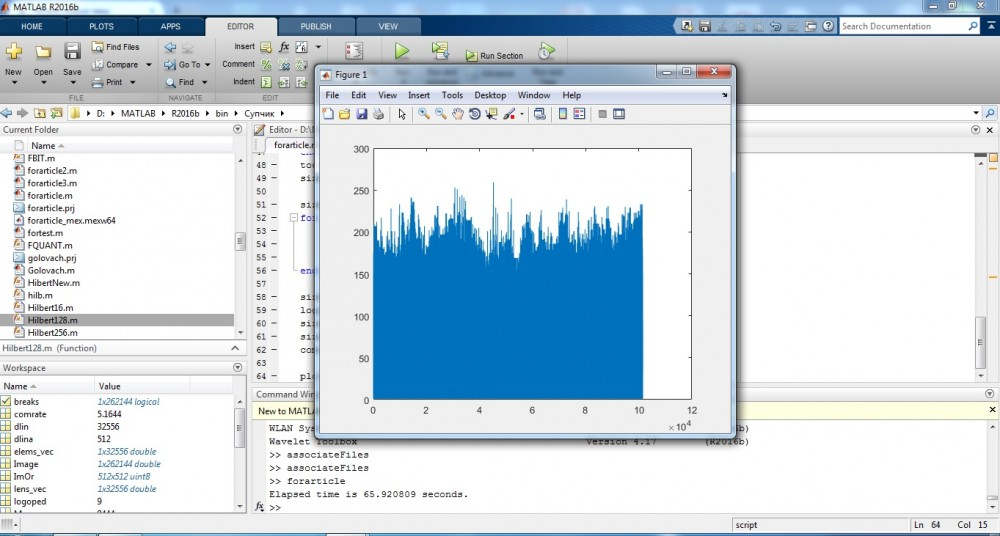 simulation with Mathworks Matlab R2016b