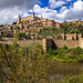 The View  of The Alcazar de Toledo from the Tagus river. by hippoking