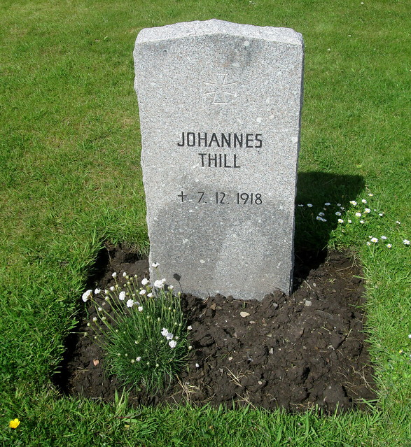 Johannes Thill, Lyness Royal Naval Cemetery, Hoy