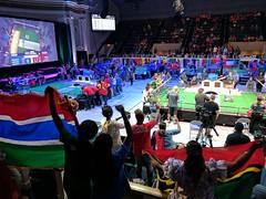 Cheering spectators